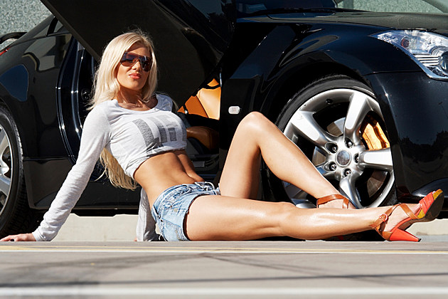 Car and babe